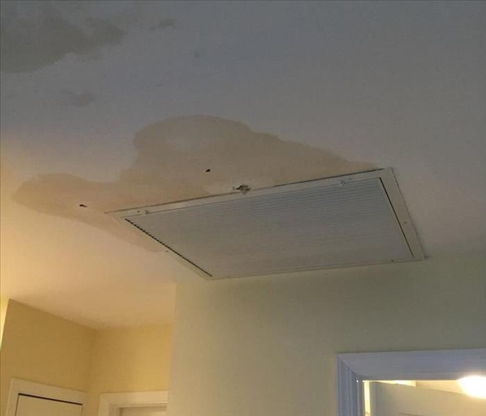 Ceiling effected by storm Before