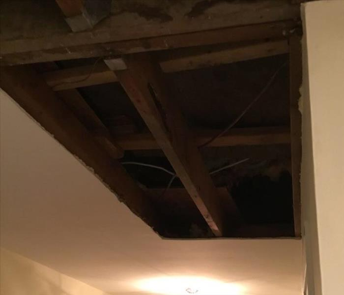 Ceiling effected by storm After